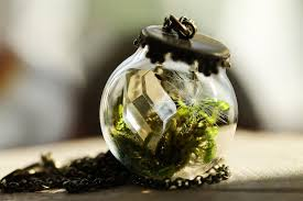 exquisite terrarium necklaces let you carry miniature nature