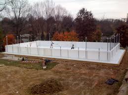 backyard ice rink boards synthetic ice bat and backyard rink kits