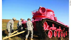 army paints tank pink but not for the reason you might think