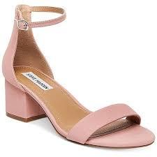 light pink sandals women s steve madden women s irenee two piece block heel sandals 79