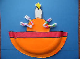 christingle craft made with a paper plate christmas pinterest