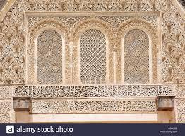 elaborate stucco ornaments arabesques and koranic verses made of