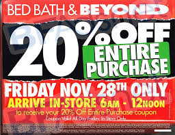 20 Off Entire Purchase Bed Bath And Beyond Black Friday 2015 Bed Bath And Beyond Ad Scan