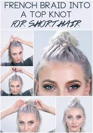 step by step braid short hair 18 half up hairstyles for short and medium length hair to try now