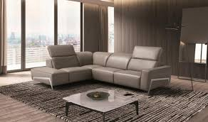 Left Sectional Sofa Ocean Italian Leather Sectional Sofa In Grey Free Shipping Get