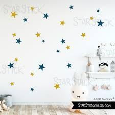 stickers étoiles chambre bébé vinyle enfant étoiles