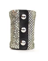 swarovski crystal leather bracelet images Giuseppe zanotti swarovski crystal mesh extra wide cuff bracelet JPG
