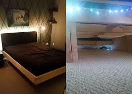 Bed Frame Diy Bed Frame With Lighting Underneath