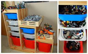 furniture wooden ikea toy storage filled with toys and boxes