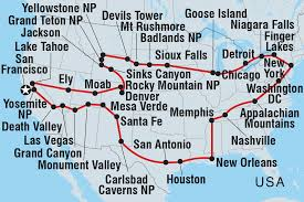 New Orleans Usa Map by Circle Usa United States Tours Intrepid Travel Us