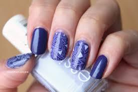 notd 40 great nail art ideas three shades of purple polished