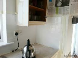 Easy Backsplash For Kitchen by Painted Tile Backsplash Cover Those Ugly Tiles Make Do And Diy