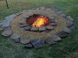 Building A Firepit In Your Backyard Decorating Diy Firepit Might Try To Build This While Mike Builds