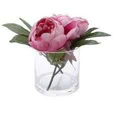 pink peonies in glass vase artificial flowers u0026 feathers
