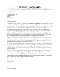 construction manager cover letter project manager cv template