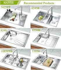 Triple Basin  Bowl Kitchen Sink Undermount  Bowl Kitchen Sink - Three compartment kitchen sink