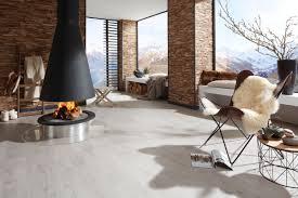 schönes wohnzimmer mit designboden von planeo www planeo de