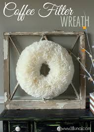 christmas crafts for moms and kids coffee filter wreath coffee
