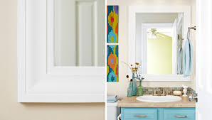 how to build fascinating frame bathroom mirror bathrooms remodeling
