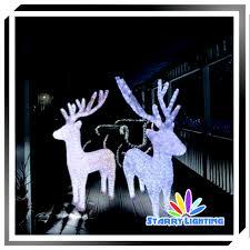 Lighted Santa Sleigh Reindeer Set by Led Acrylic Reindeer Santa Sleigh Light Led Acrylic Reindeer