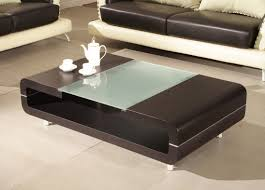 modern black coffee table black modern wood coffee table with glass center