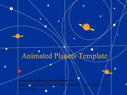 animated planets template