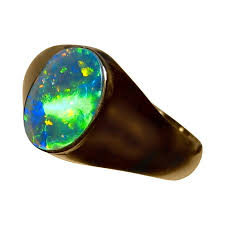 opal stones rings images Mens opal ring 14k gold unique stone opal rings men flashopal JPG