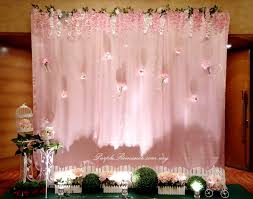 wedding backdrop design malaysia garden theme wedding decoration at pullman klcc purple