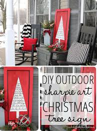 outdoor christmas decorating sharpie art tree sign finding home