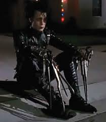 Edward Scissorhands Costume Original Screen Used Johnny Depp Costume And Display From Edward