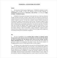 sample scientific report templates