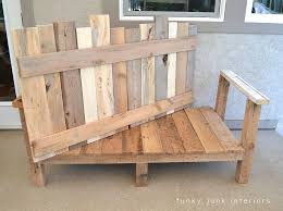 Patio Pallet Furniture by How I Built The Pallet Wood Sofa Part 2 Funky Junk Interiors