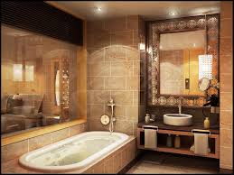 bathroom rustic bathroom design with oval bathtub and bronze