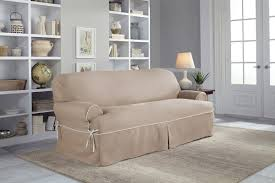 Sure Fit Cotton Duck T Cushion Sofa Slipcover by Serta Twill T Cushion Sofa Slipcover U0026 Reviews Wayfair