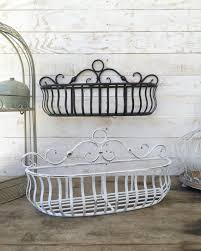 Wall Plant Holders Metal Wall Basket Kitchen Home Decor Distressed Black Fruit