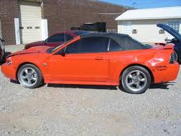 orange mustang convertible
