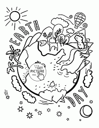 coloring pages beautiful earth celebration earth coloring