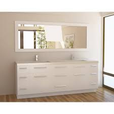 84 inch double sink bathroom vanities design element moscony 84 inch quartz double sink pearl white
