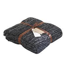 plaid noir canapé onstro doux naturel 100 coton tricoté plaids couverture couvre lit