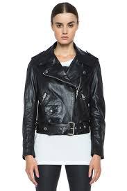 black moto jacket studios mape lambskin moto jacket in black