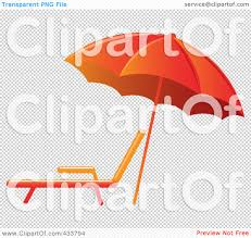 Beach Lounge Chair Png Royalty Free Rf Clipart Illustration Of An Orange Beach Umbrella