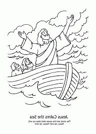 stylish stunning jesus calming storm coloring