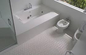 bathroom wood tile floor ideas teak wood framed wall mirror glossy