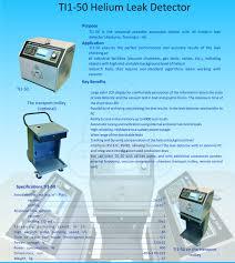 helium mass spectrometer leak detector ti1 50 manual