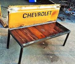 hand crafted rustic garden bench chevy truck tailgate benches
