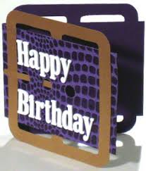a unique birthday card to make that looks like a leather belt