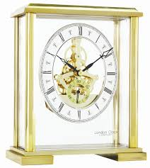 Mantle Clock Kits London Clock Company Gold Skeleton Mantle Clock 02085 At The Real