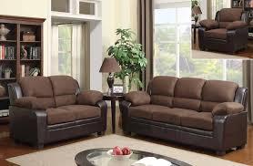 microfiber sofa and loveseat modern two tone sofa set upholstered in chocolate microfiber
