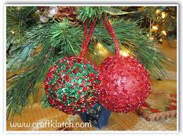 craft klatch diy easy glitter ornaments how to