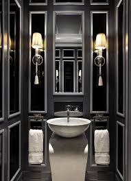 black bathrooms ideas drama in the powder room 19 almost black bathroom design